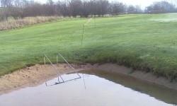 Vandfyldt bunker med (bade)stigeadgang